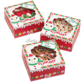 Wilton Treat Box Frosted Fun (3 stuks) - 15,8 x 15,8 x 7,6 cm