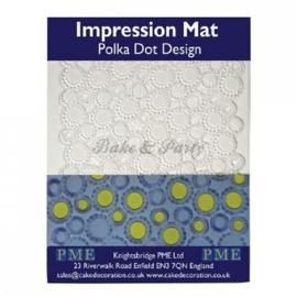 PME - Impression Mat - Polka Dot Design