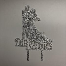 "Taart Topper Acryl ""Mr & Mrs"" (10)"