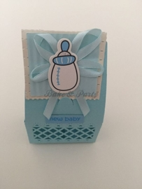 "Giftbox ""Babyfles"" Blauw"