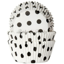 House Of Marie - Polkadot White / Black
