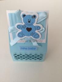 "Giftbox ""Teddybeer"" Blauw"
