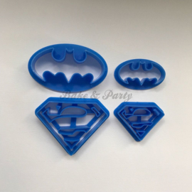 "Cutters ""Batman & Superman"" (4 stuks)"