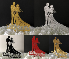 "Taart Topper Acryl ""Mr & Mrs"" (10)"