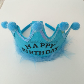 "Verjaardagskroon ""Happy Birthday"" Blauw"