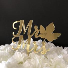 "Taart Topper Acryl ""Mr & Mrs"" (24)"