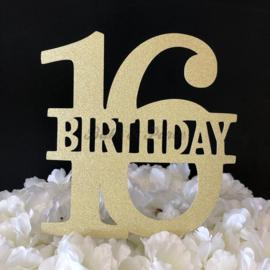 "Taart Topper Carton ""16 Birthday"""