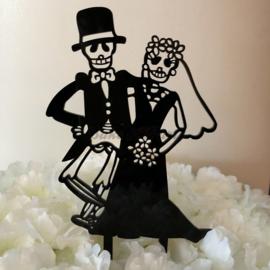 "Taart Topper Acryl ""Creepy Wedding"" (1)"