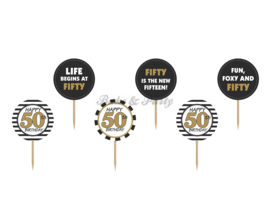 "Cupcake Toppers ""Fifty"""