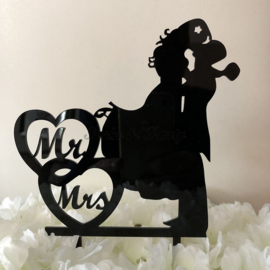 "Taart Topper Acryl ""Mr & Mrs"" (21)"