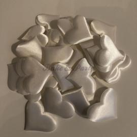 Decoratie Hartjes Wit Large (50 stuks)