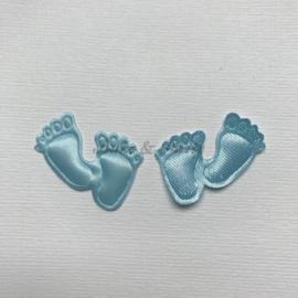 Decoratie Voetjes Blauw (50 stuks)