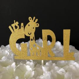 "Taart Topper Carton ""It's a Girl"" (3)"