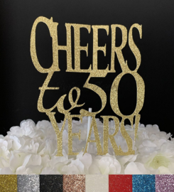 """Taart Topper Carton """"Cheers to 50 Years"""""""
