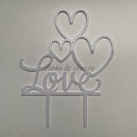 "Taart Topper Acryl ""Love"" (1)"