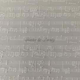 "Chocolade Transfer Sheet ""Muziek"""