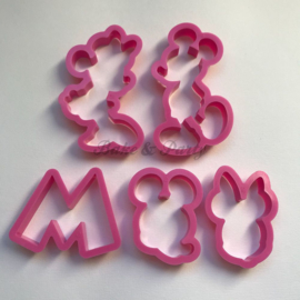 "Cutters ""Mickey & Minnie Mouse"" (5 stuks)"