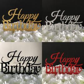 "Taart Topper Acryl ""Happy Birthday"" (1)"