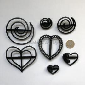 Patchwork Cutters - Hearts & Swirls