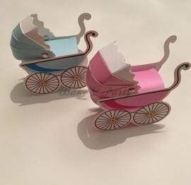 "Giftbox ""Kinderwagen"" (2) Blauw"