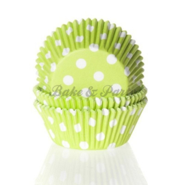 House Of Marie - Polkadot Limegreen