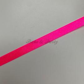 "Decoratie Lint ""Fluoriserend Roze Satijn"""
