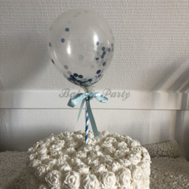 """Taart Topper """"Ballon"""" Blauw"""