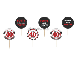 "Cupcake Toppers ""Forty"""