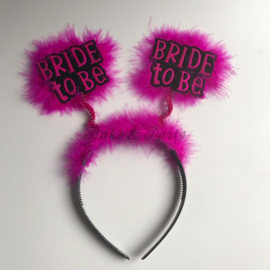 "Tiara ""Bride To Be"" Zwart-Roze"