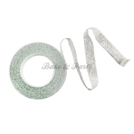 PME - Sparkle Tape White / Silver Sparkle