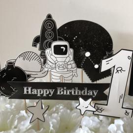 "Taart Toppers Carton ""Happy Birthday 1"" (10 stuks)"