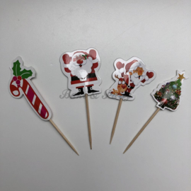 "Cupcake Toppers ""Kerst"""