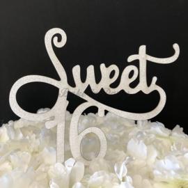 "Taart Topper Carton ""Sweet 16"" (1)"