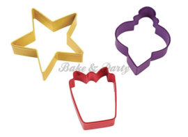 Wilton - Cookie Cutters Set - Holiday (3 stuks)
