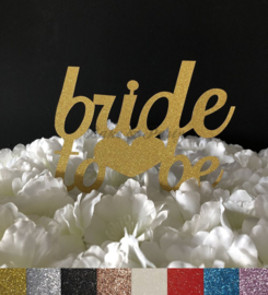 "Taart Topper Carton ""Bride To Be"" (2)"