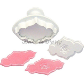 Plunger - PME  Creative Plaque Rose Spray & Plain Small (2 stuks)