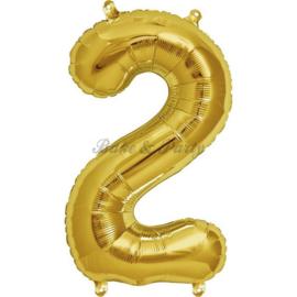"Jumbo Folie Ballon ""2"" Goud"