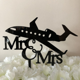 "Taart Topper Acryl ""Mr & Mrs"" (23)"