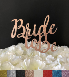 "Taart Topper Carton ""Bride To Be"" (4)"