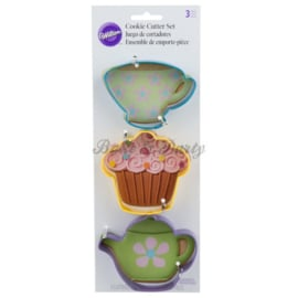 Wilton - Cookie Cutters Set - Tea Party (3 stuks)