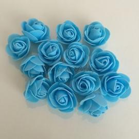 """Decoratie """"Roosjes"""" Foam Blauw"""