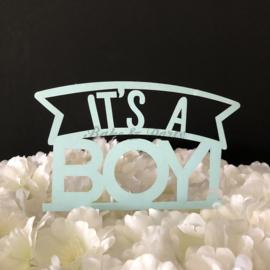 "Taart Topper Carton ""It's a Boy"" (4)"