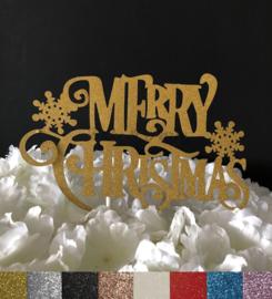 "Taart Topper Carton ""Merry Christmas"" (1)"