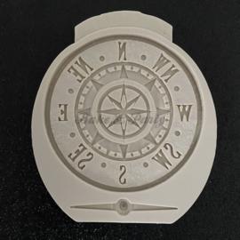 """Siliconen Mal """"Antique Compass"""""""