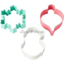 Wilton - Cookie Cutters Set - Vintage (3 stuks)