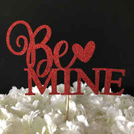 "Taart Topper Carton ""Be Mine"""