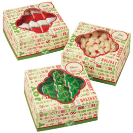 Wilton Treat Box Homemade for the Holidays  (3 stuks) - 15,8 x 15,8 x 7,6 cm