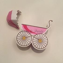 """Giftbox """"Kinderwagen"""" (2) Roze"""