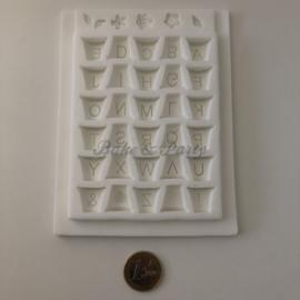Bake & Party Specials - Siliconen Mal Alphabet Flower Pots