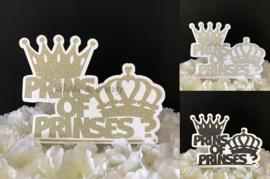 "Taart Topper Carton ""Prins of Prinses?"""